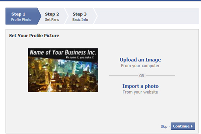 The Facebook Page Creation Tool